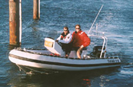 4.8m Naiad tender boat for dive charter